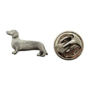 Dachshund Mini Pin ~ Antiqued Pewter ~ Miniature Lapel Pin ~ Antiqued Pewter Miniature Lapel Pin ~ Sarah's Treats & Treasures