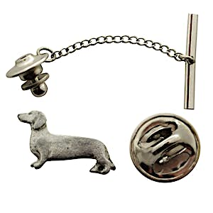 Dachshund Tie Tack ~ Antiqued Pewter ~ Tie Tack or Pin ~ Antiqued Pewter Tie Tack or Pin ~ Sarah's Treats & Treasures