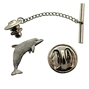 Dolphin Tie Tack ~ Antiqued Pewter ~ Tie Tack or Pin ~ Antiqued Pewter Tie Tack or Pin ~ Sarah's Treats & Treasures