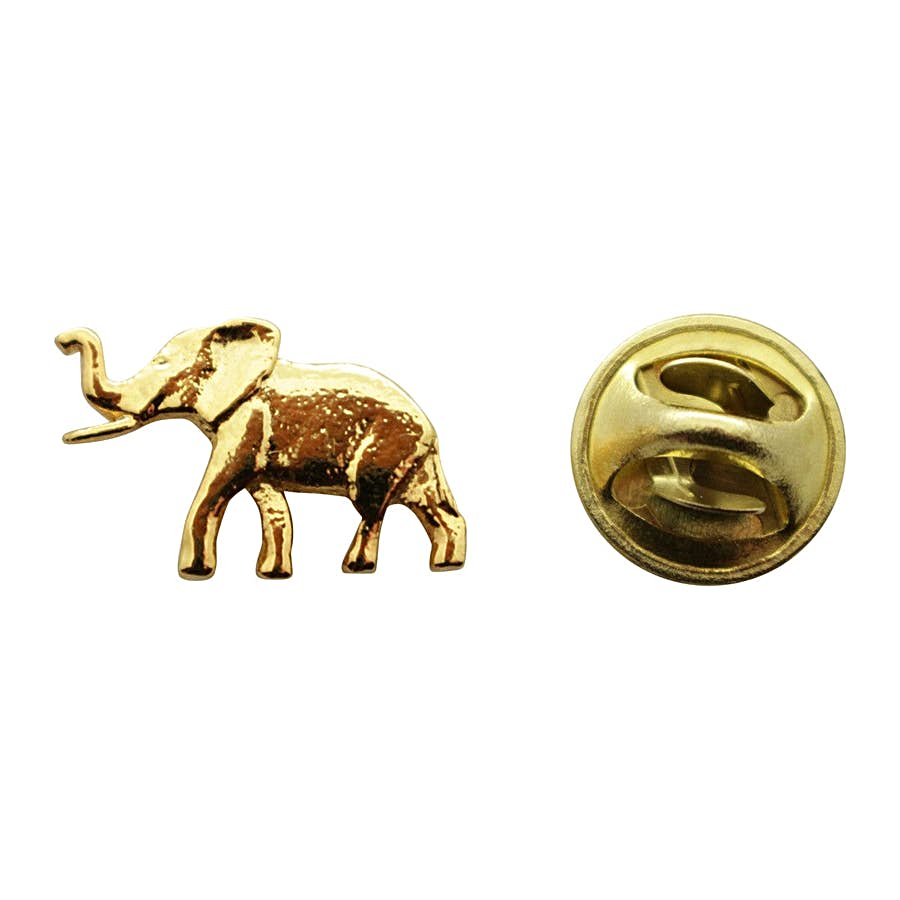 Elephant Mini Pin ~ 24K Gold ~ Miniature Lapel Pin ~ 24K Gold Miniature Lapel Pin ~ Sarah's Treats & Treasures