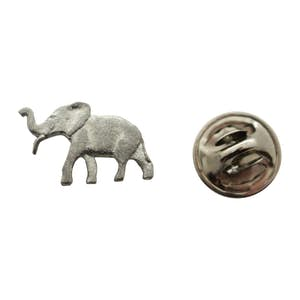 Elephant Mini Pin ~ Antiqued Pewter ~ Miniature Lapel Pin ~ Sarah's Treats & Treasures
