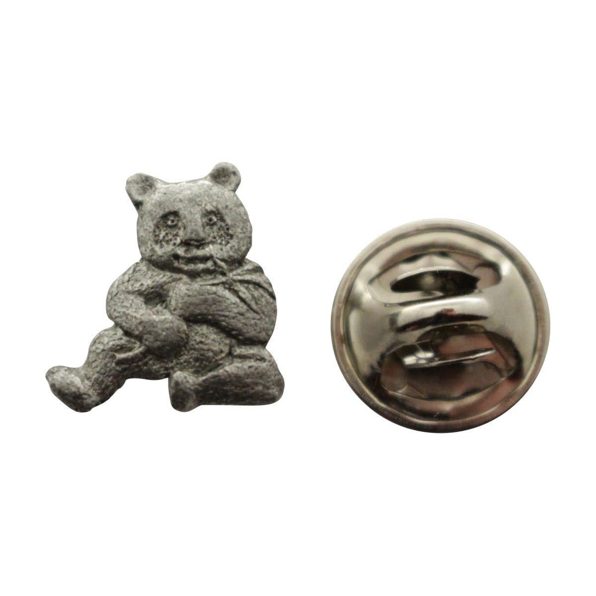 Panda Mini Pin ~ Antiqued Pewter ~ Miniature Lapel Pin ~ Sarahu0027s Treats U0026  Treasures