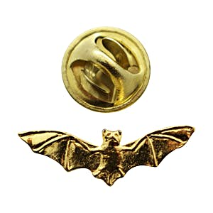 Bat Mini Pin ~ 24K Gold ~ Miniature Lapel Pin ~ Sarah's Treats & Treasures