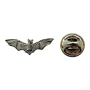 Bat Mini Pin ~ Antiqued Pewter ~ Miniature Lapel Pin ~ Sarah's Treats & Treasures