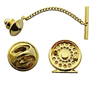Fly Reel Tie Tack ~ 24K Gold ~ Tie Tack or Pin ~ 24K Gold Tie Tack or Pin ~ Sarah's Treats & Treasures