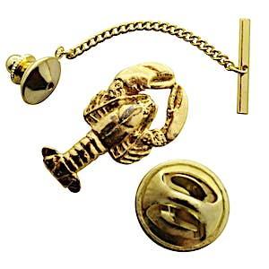 Lobster Tie Tack ~ 24K Gold ~ Tie Tack or Pin ~ Sarah's Treats & Treasures