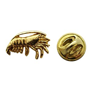 Shrimp Mini Pin ~ 24K Gold ~ Miniature Lapel Pin ~ 24K Gold Miniature Lapel Pin ~ Sarah's Treats & Treasures