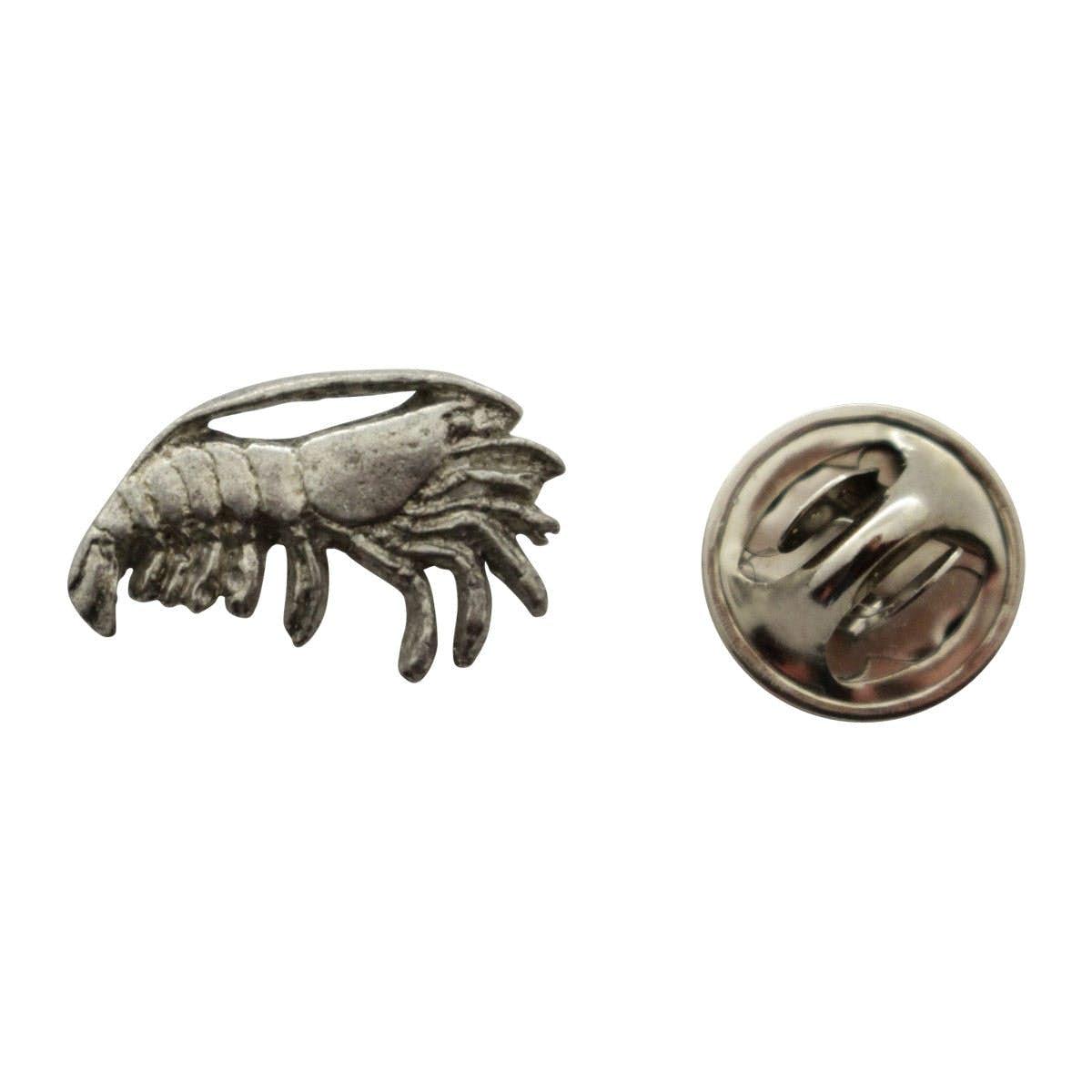 Great Shrimp Mini Pin ~ Antiqued Pewter ~ Miniature Lapel Pin ~ Sarahu0027s Treats U0026  Treasures