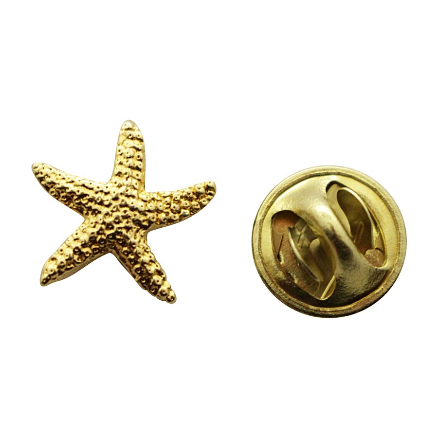 Starfish Mini Pin ~ 24K Gold ~ Miniature Lapel Pin ~ 24K Gold Miniature Lapel Pin ~ Sarah's Treats & Treasures
