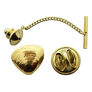 Clam Tie Tack ~ 24K Gold ~ Tie Tack or Pin ~ 24K Gold Tie Tack or Pin ~ Sarah's Treats & Treasures