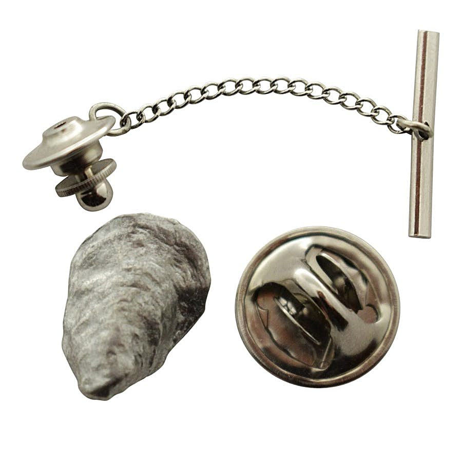 Oyster Tie Tack ~ Antiqued Pewter ~ Tie Tack or Pin ~ Antiqued Pewter Tie Tack or Pin ~ Sarah's Treats & Treasures