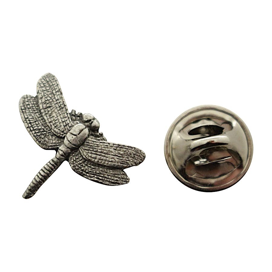 Dragonfly Mini Pin ~ Antiqued Pewter ~ Miniature Lapel Pin ~ Sarah's Treats & Treasures