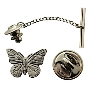 Monarch Butterfly Tie Tack ~ Antiqued Pewter ~ Tie Tack or Pin ~ Sarah's Treats & Treasures