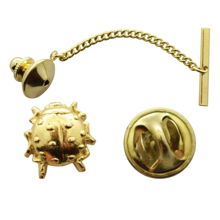 Ladybug Tie Tack ~ 24K Gold ~ Tie Tack or Pin ~ 24K Gold Tie Tack or Pin ~ Sarah's Treats & Treasures