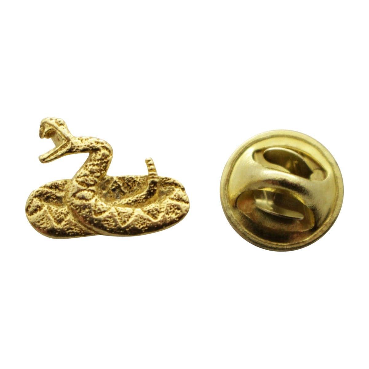 Rattle Snake Pewter Pin