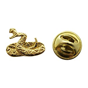 Rattlesnake Mini Pin ~ 24K Gold ~ Miniature Lapel Pin ~ 24K Gold Miniature Lapel Pin ~ Sarah's Treats & Treasures
