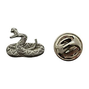 Rattlesnake Mini Pin ~ Antiqued Pewter ~ Miniature Lapel Pin ~ Sarah's Treats & Treasures