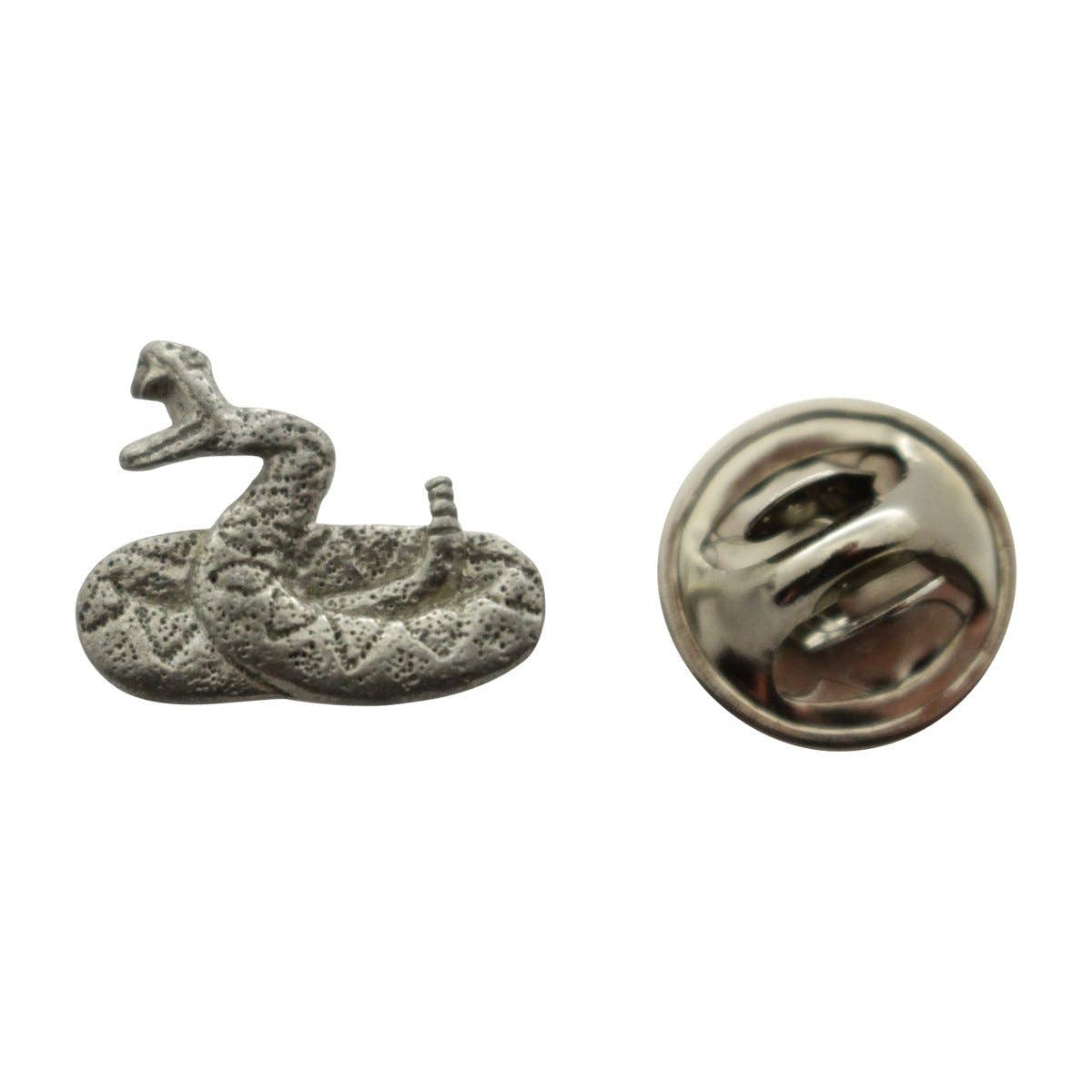 Nice Rattlesnake Mini Pin ~ Antiqued Pewter ~ Miniature Lapel Pin ~ Sarahu0027s  Treats U0026 Treasures