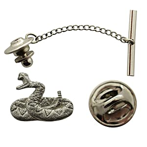 Rattlesnake Tie Tack ~ Antiqued Pewter ~ Tie Tack or Pin ~ Sarah's Treats & Treasures