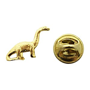 Brontosaurus Mini Pin ~ 24K Gold ~ Miniature Lapel Pin ~ Sarah's Treats & Treasures