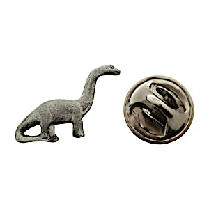 Brontosaurus Mini Pin ~ Antiqued Pewter ~ Miniature Lapel Pin ~ Sarah's Treats & Treasures