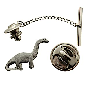 Brontosaurus Tie Tack ~ Antiqued Pewter ~ Tie Tack or Pin ~ Sarah's Treats & Treasures