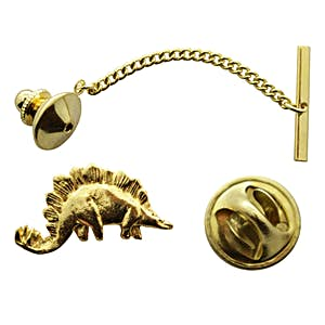 Stegosaurus Tie Tack ~ 24K Gold ~ Tie Tack or Pin ~ 24K Gold Tie Tack or Pin ~ Sarah's Treats & Treasures