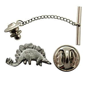 Stegosaurus Tie Tack ~ Antiqued Pewter ~ Tie Tack or Pin ~ Antiqued Pewter Tie Tack or Pin ~ Sarah's Treats & Treasures