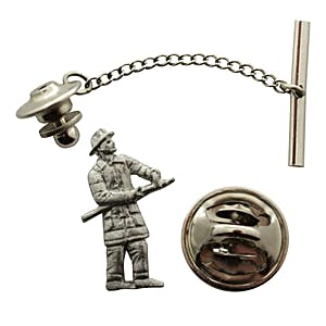 Fireman Tie Tack ~ Antiqued Pewter ~ Tie Tack or Pin ~ Antiqued Pewter Tie Tack or Pin ~ Sarah's Treats & Treasures