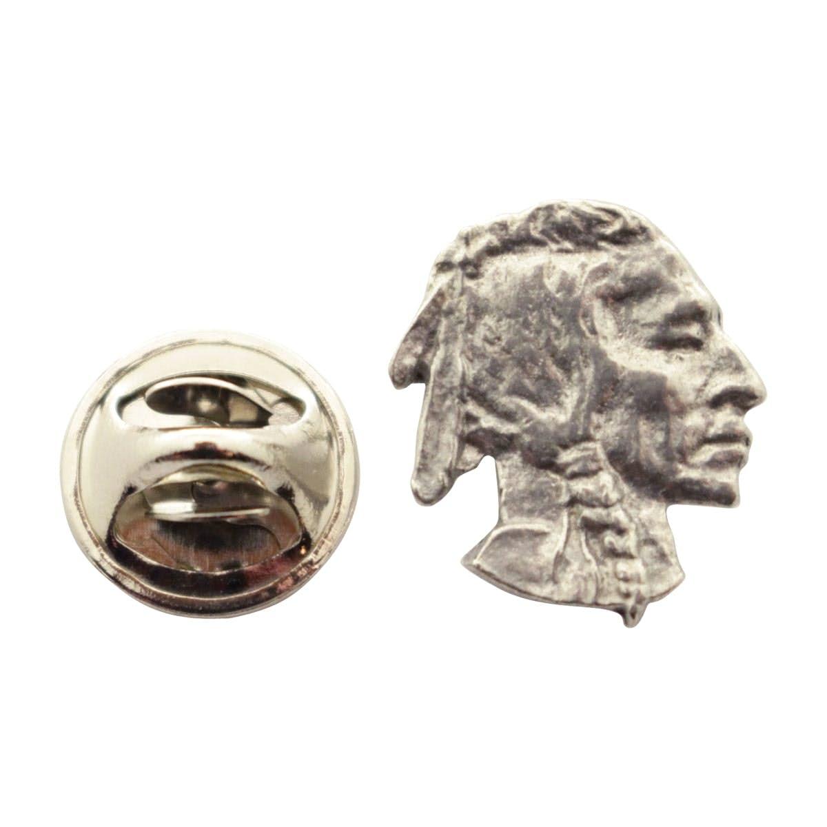 Bony Fish Mini Pin ~ Antiqued Pewter ~ Miniature Lapel Pin