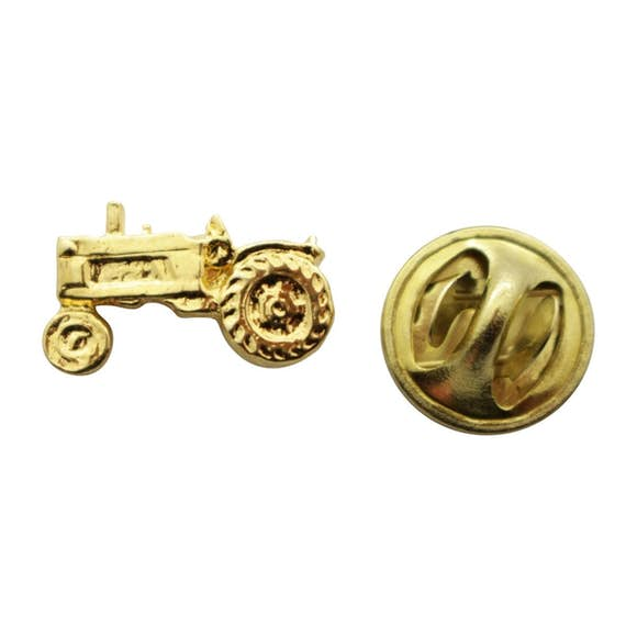 Tractor Mini Pin ~ 24K Gold ~ Miniature Lapel Pin ~ Sarah's Treats & Treasures