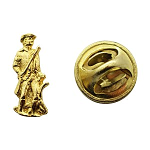 Minuteman Mini Pin ~ 24K Gold ~ Miniature Lapel Pin ~ Sarah's Treats & Treasures