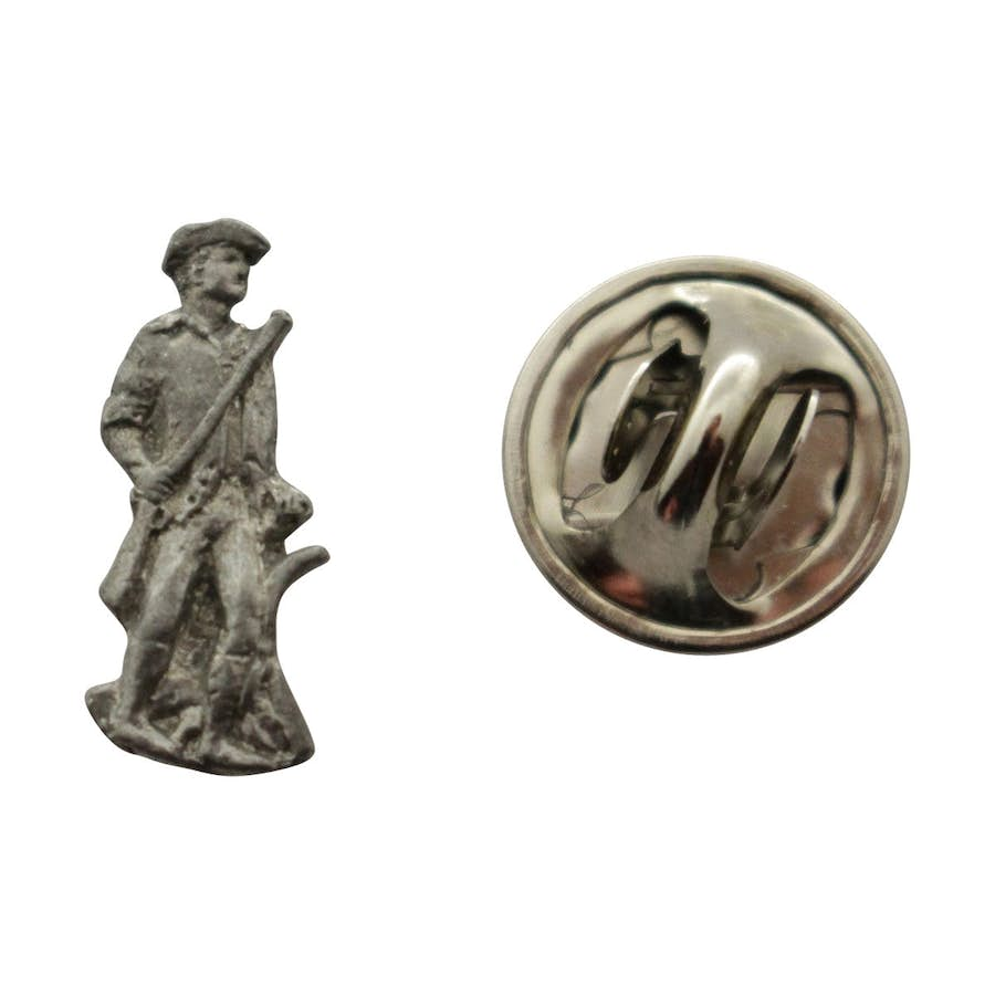 Minuteman Mini Pin ~ Antiqued Pewter ~ Miniature Lapel Pin ~ Sarah's Treats & Treasures