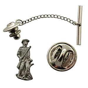 Minuteman Tie Tack ~ Antiqued Pewter ~ Tie Tack or Pin ~ Sarah's Treats & Treasures