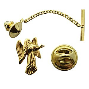 Angel Tie Tack ~ 24K Gold ~ Tie Tack or Pin ~ Sarah's Treats & Treasures