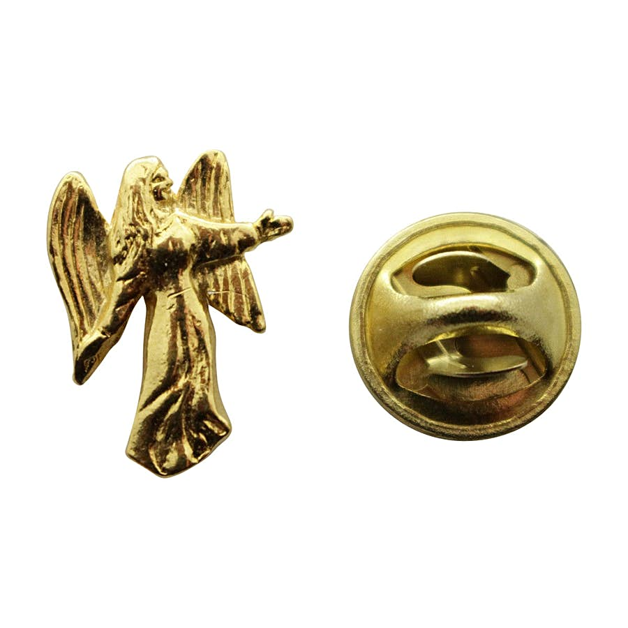 Angel Mini Pin ~ 24K Gold ~ Miniature Lapel Pin ~ Sarah's Treats & Treasures