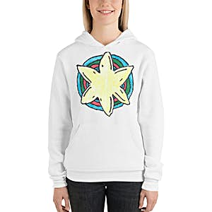 Starfish Hoodie ~ Hand Drawn Art ~ Emmer Designs