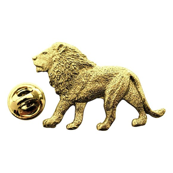 Lion Pin ~ 24K Gold ~ Lapel Pin